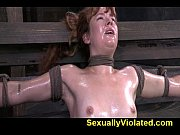 Claire Robbins tied down hard