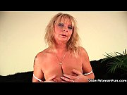 Squirting granny sprays her ju