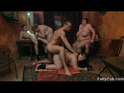 Bbwclub Bbwgangbang Bbwgroup video: Fat brunette gets nailed after blowjob
