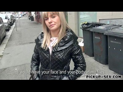 Public Blonde Blowjob video: Amateur Euro slut Bela screwed up for a chunk of money