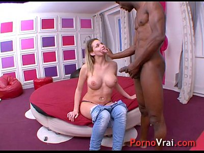 Blonde slut with very big boops!! French amateur